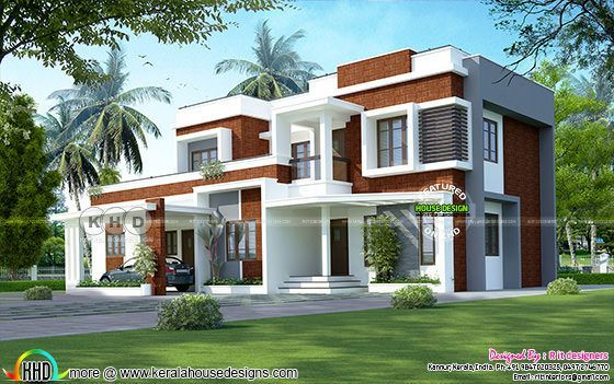 Box type contemporary style modern home 2813 sq-ft