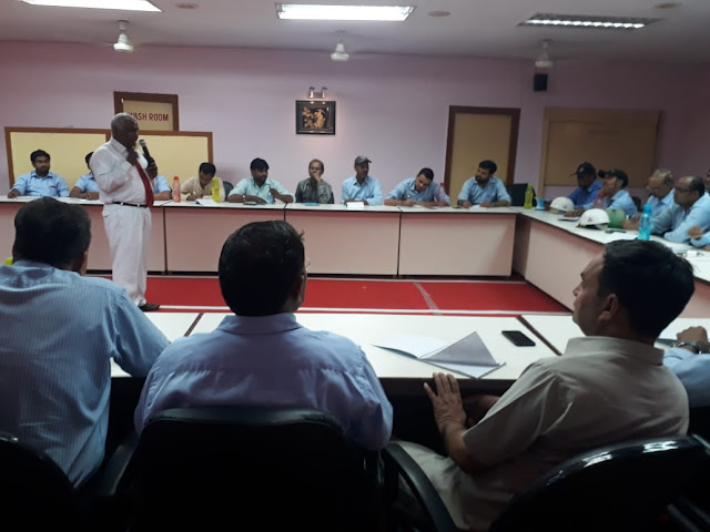 Conducting workshop on disaster management and primary assistance to Hyderabad Industries Limited
