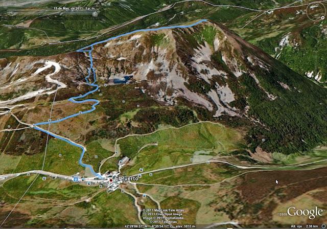 Rutas Montaña Asturias: Mapa de la ruta al Cueto Arbás