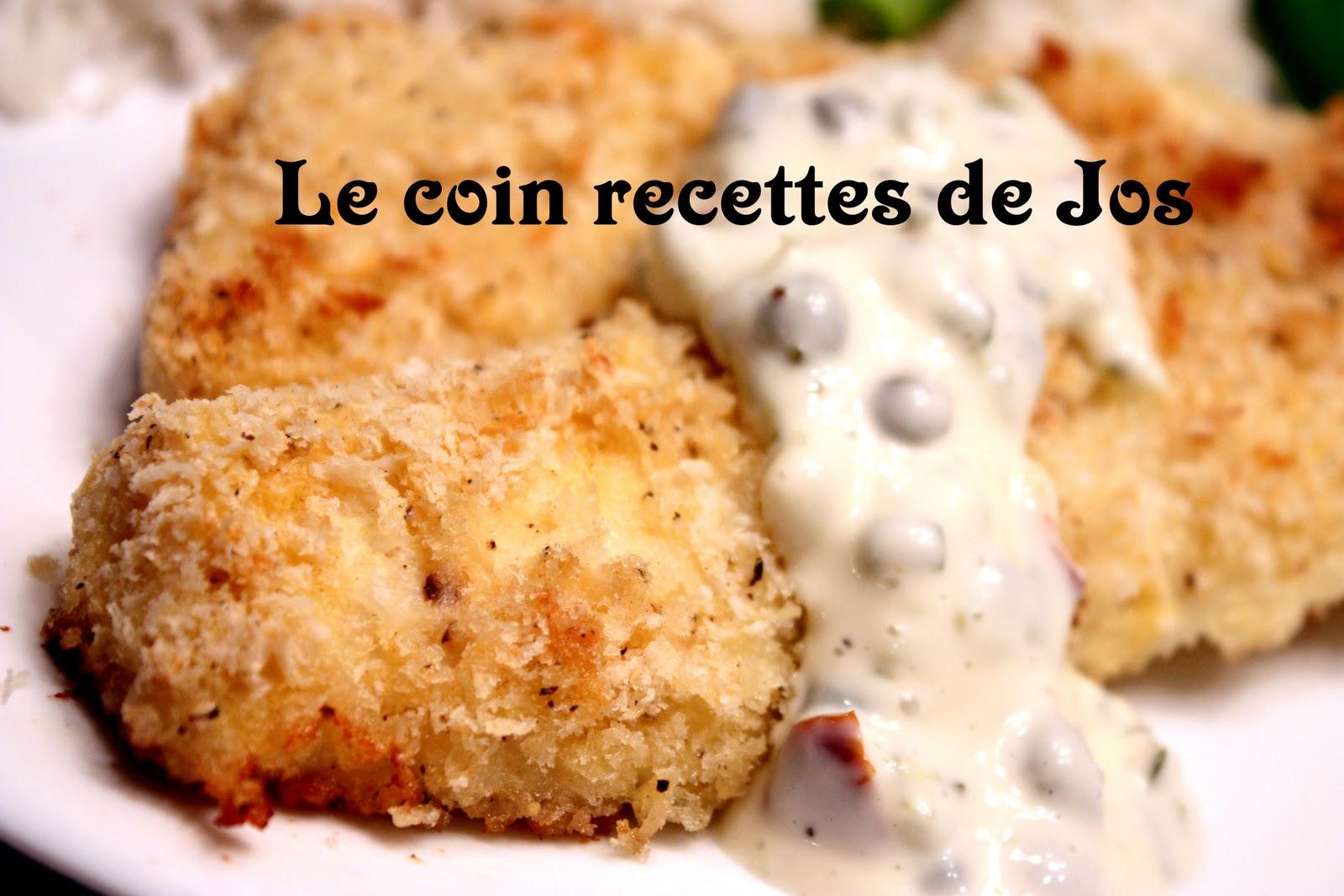 Le Coin Recettes De Jos Filets De Poisson Panes Panko Sauce Tartare