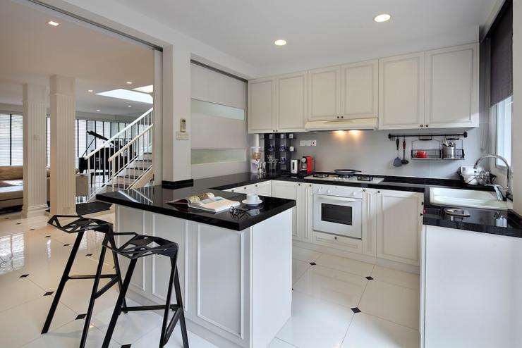 Contoh Desain Interior Dapur Bergaya Klasik Modern
