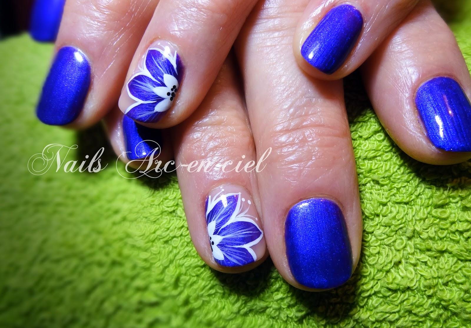 Populaire Nails Arc-en-ciel: Fleur en vernis semi-permanent XA58