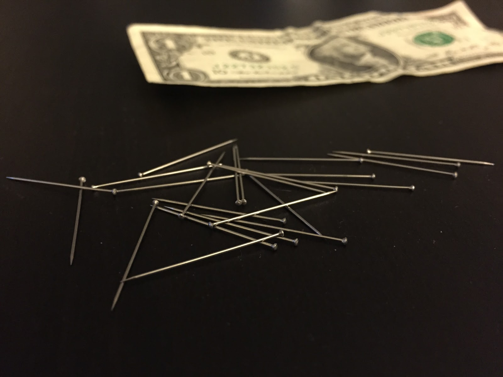 making a money tree with pins