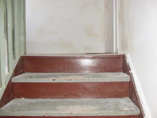 Zustand der Treppe vor der Treppenrenovierung