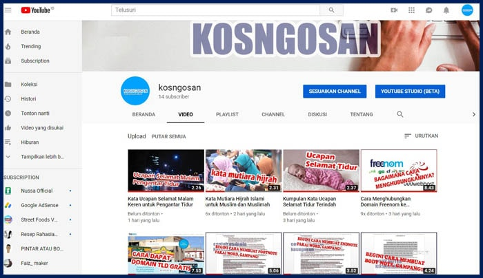 channel kosngosan