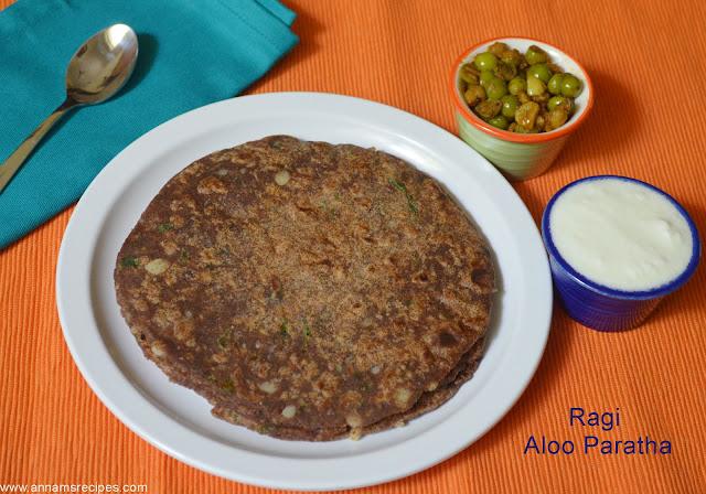 Ragi Aloo Paratha