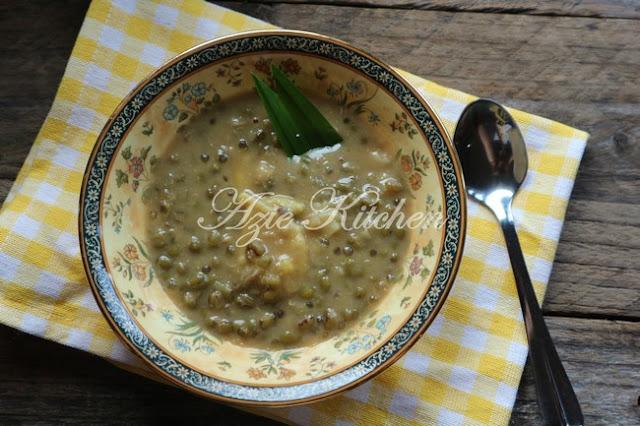 Bubur Kacang Hijau Dengan Durian