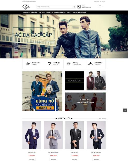 FashionShop Responsive Blogger Template - Giao diện blog bán hàng thời trang chuyên nghiệp