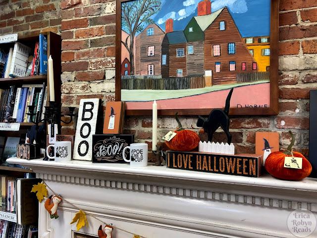 Wicked Good Books in Salem, MA halloween display