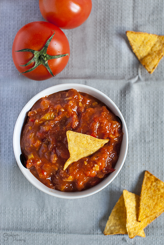 meksykańska salsa do nachos, chipsów i mięs
