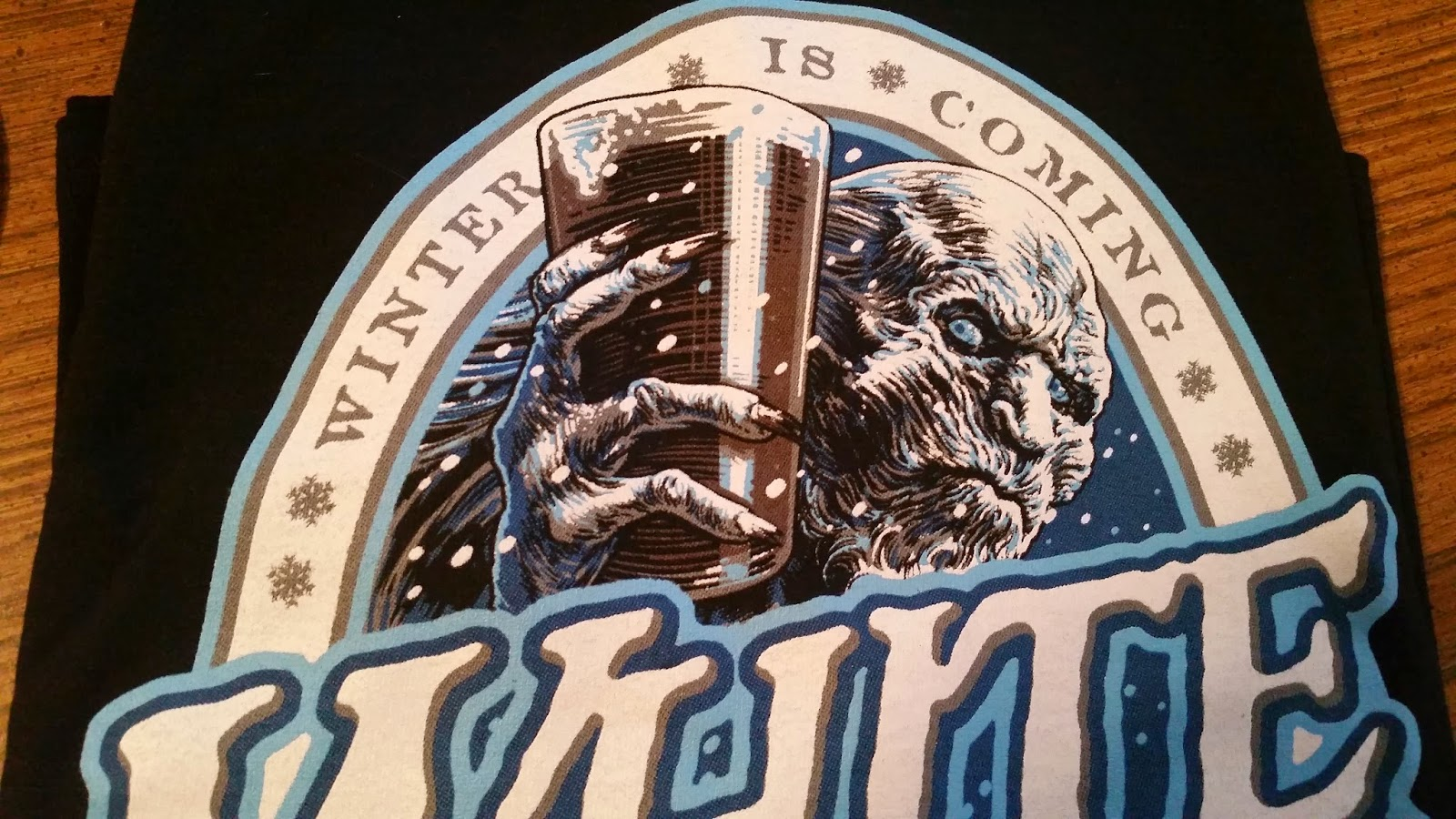 Close-up of Game of Thrones white walker t-shirt