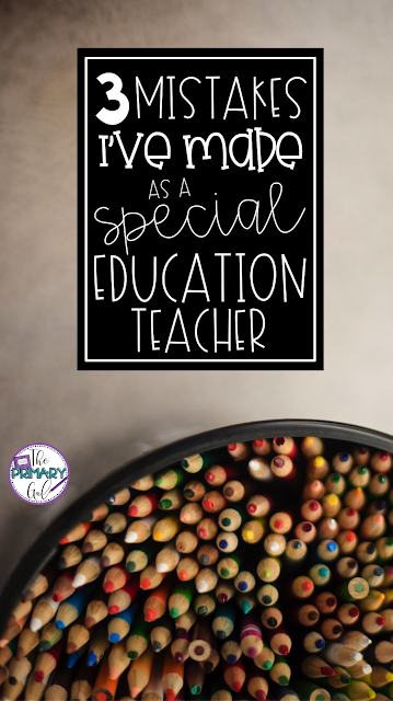 Being a special education teacher is hard. Sometimes you need to take a step back and refocus. This post will share 3 mistakes I've made as a special education teacher, in hopes that it will help you. You'll also find the link to my Tpt store for an IEP writing course. Starting fresh with a new outlook on how to best serve your kids, write measurable goals, and monitoring progress are some of the topics covered. {IEP, special education, course}