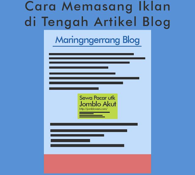 Cara Memasang Iklan di Artikel Blog