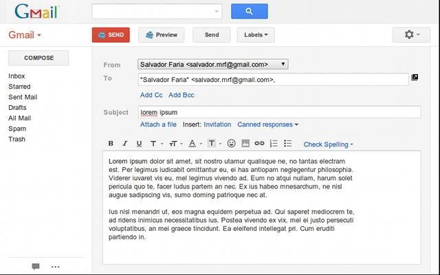 enregistrer un mail gmail