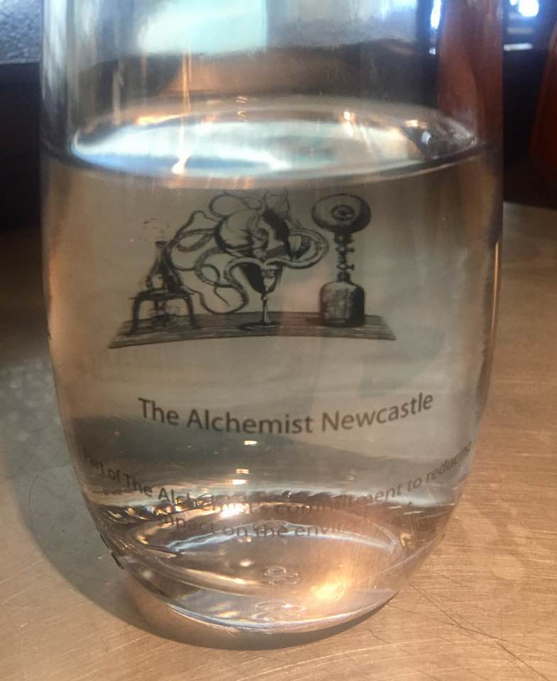 The Alchemist Newcastle | Breakfast Menu Review | Complimentary water