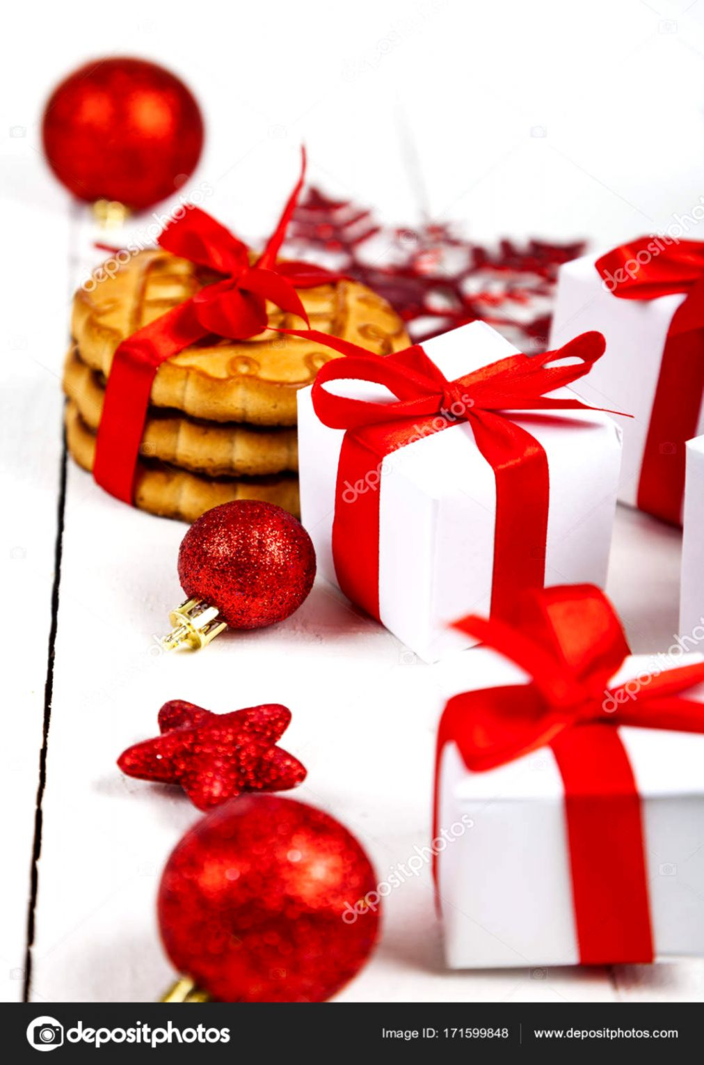 Cookies Ribbon Box Gift Christmas Hd Wallpaper Wallpapers