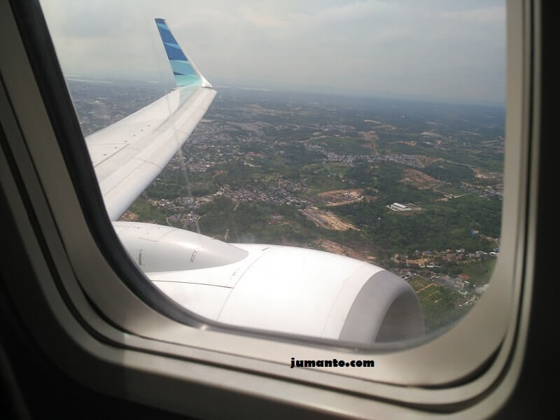 gambar balikpapan dari pesawat