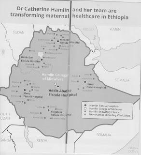 Map of fistula hospitals and clinics as of November 2017.