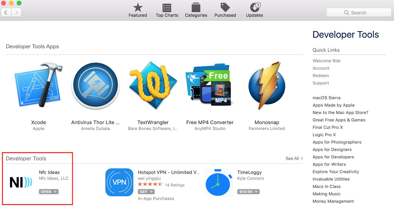 Nfc Ideas now on Mac App Store