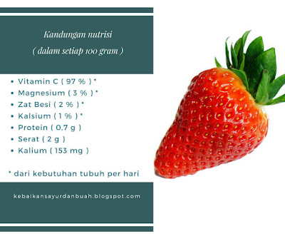 Kandungan nutrisi Buah Strawberry