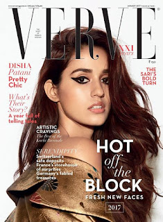 Disha Patani the cover of Verve magazine January 2017