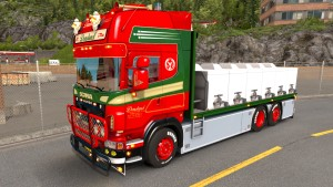 Scania R560 Donslund truck with trailer
