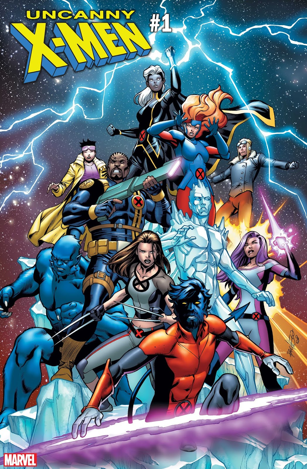 X-MEN #1 Cover from Carlos Pacheco