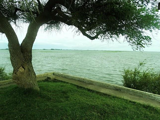 Lagoa Mirim, vista do Porto Municipal de Santa Vitória do Palmar.