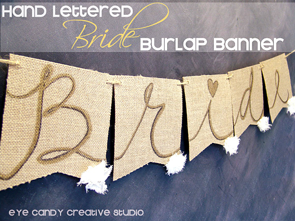 custom burlap banner, bride banner, banner for wedding shower, bride