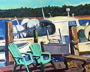 Stephen Moore artist Deck Chairs