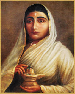 Ahilya bai portrait in chandwad