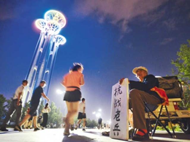 悲歌! 90岁抗日女老兵 沦落北京行乞 组图