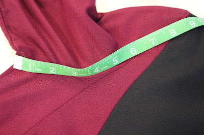 TNG season 1 admiral jacket - lower front armscye