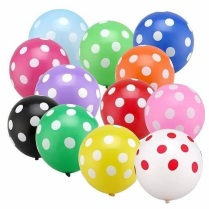 Balon Latex Motif Polkadot