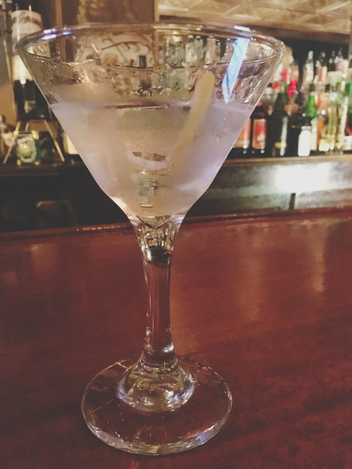 martini at Nick's - a bar in Worcester, Massachusetts