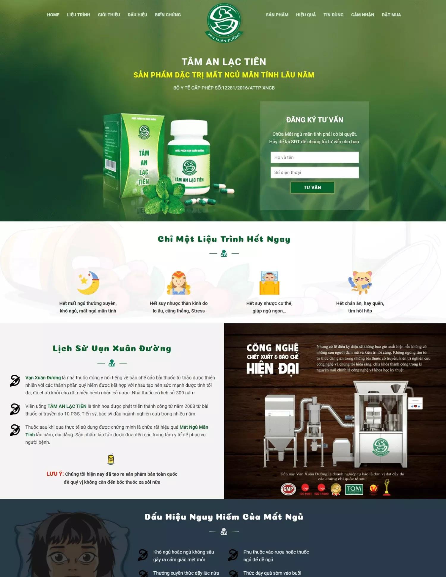 Giao diện  blogspot landing page bán thực phẩm chức năng