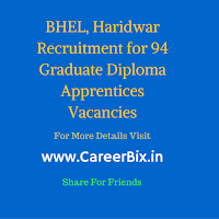 BHEL, Haridwar Recruitment for 94 Graduate Diploma Apprentices Vacancies
