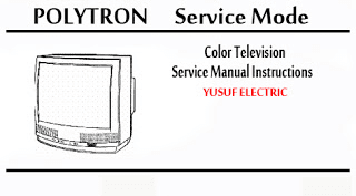 Service Mode TV POLYTRON-DIGITEC Segala Type _ Color Television Service Manual Instructions