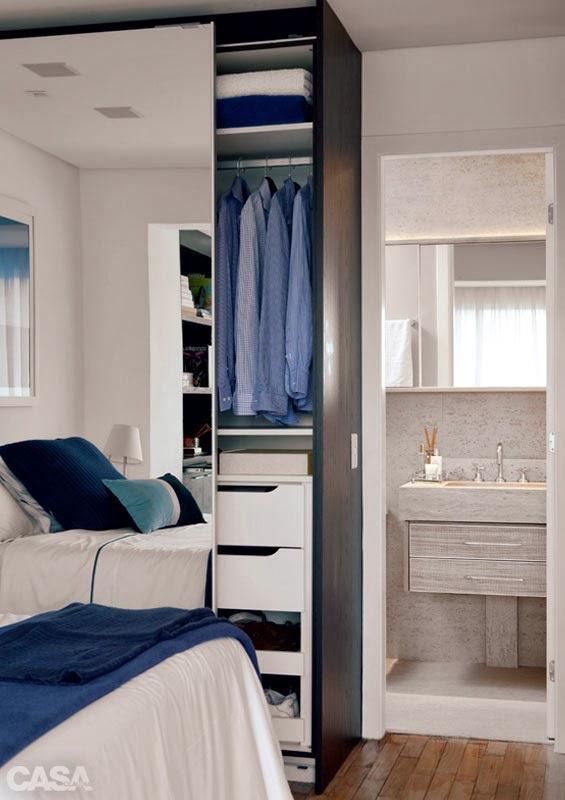 Pequeno apartamento decorado de 55m² para ele morar. Blog Achados de Decoração