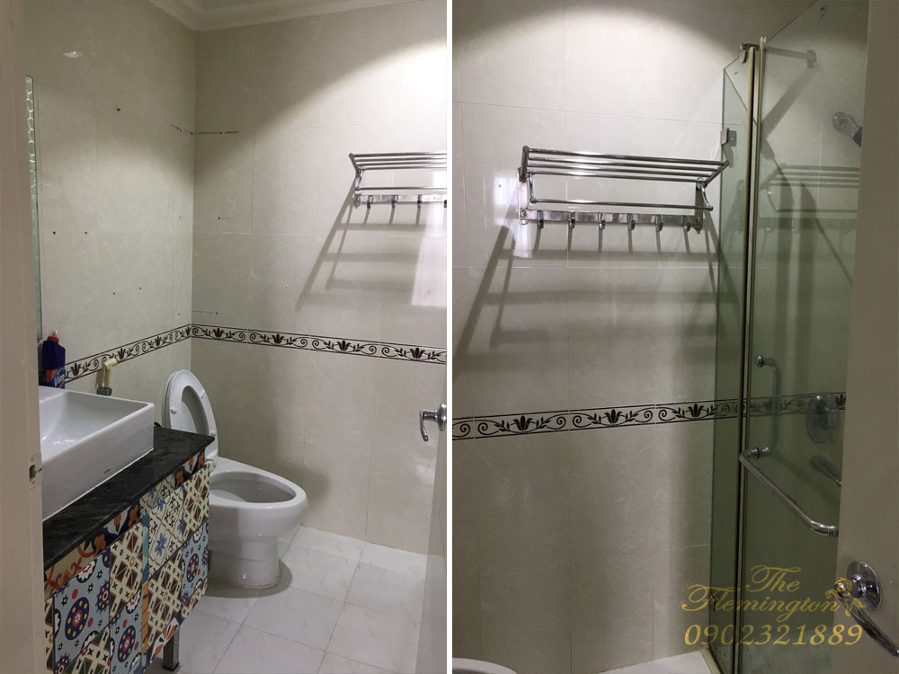 Căn hộ The Flemington cho thuê 117m2 nội thất đẹp tầng 9 block B - phòng tắm
