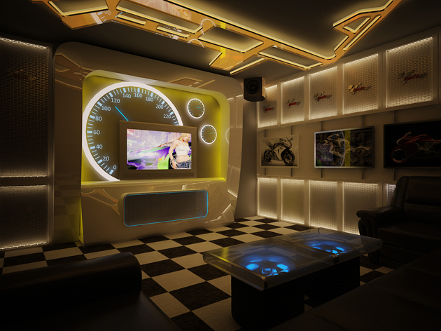 Mẫu thiết kế phòng karaoke 2013