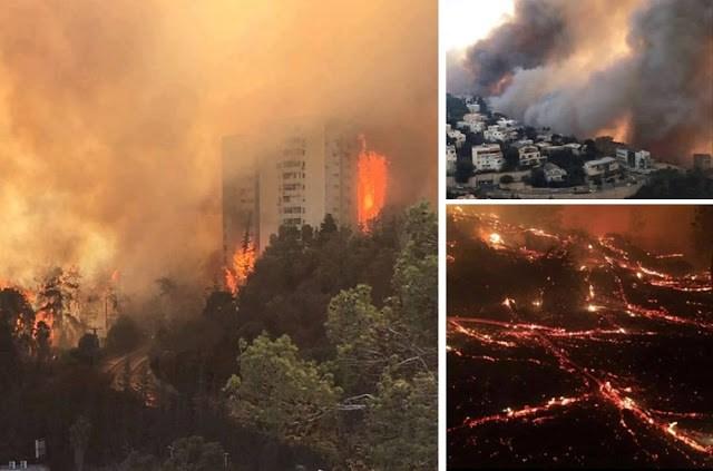 Sejak Larang Adzan, Israel Dilanda Kebakaran Hebat, Netizen Sebut Israel Kena Azab