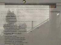 Lowongan Kerja PT. Yakult Indonesia Persada (Ditutup 19 Juni 2017)