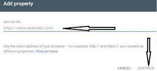 Add Property, Site, URL