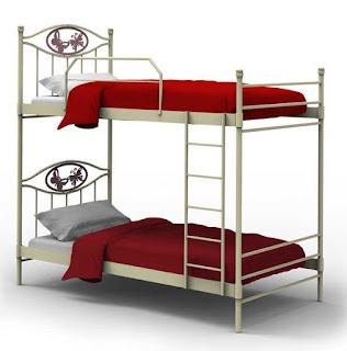 cama alta de forja juvenil