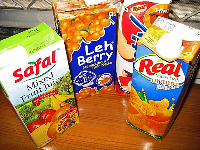 juices in tetrapacks