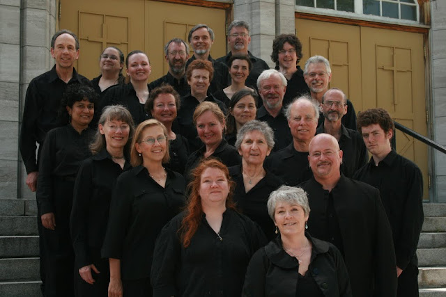 The Stairwell Carollers Spring 2011 Group Photo in All Black