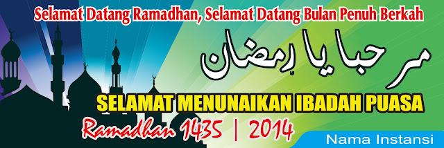 Contoh Desain Spanduk  Ramadhan Keren