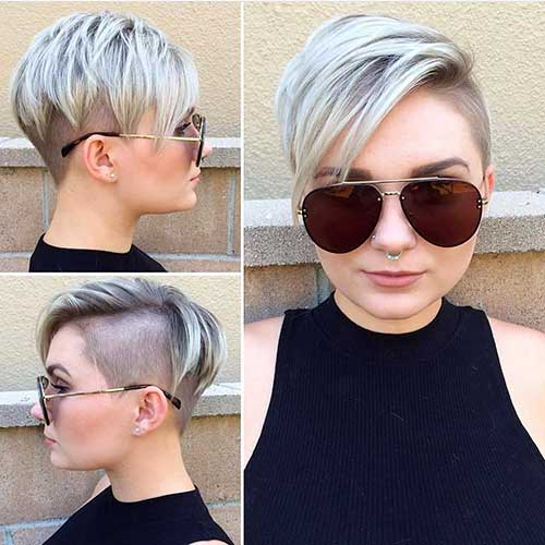 15 popular short hairstyles for round face shape choppy layered pixie