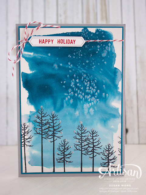 Thoughtful Branches Christmas Card ~ Susan Wong